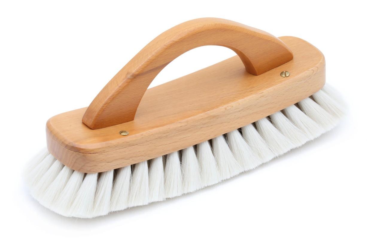 REDECKER(レデッカー) 持ち手付き 山羊毛の靴磨きブラシ ホワイト