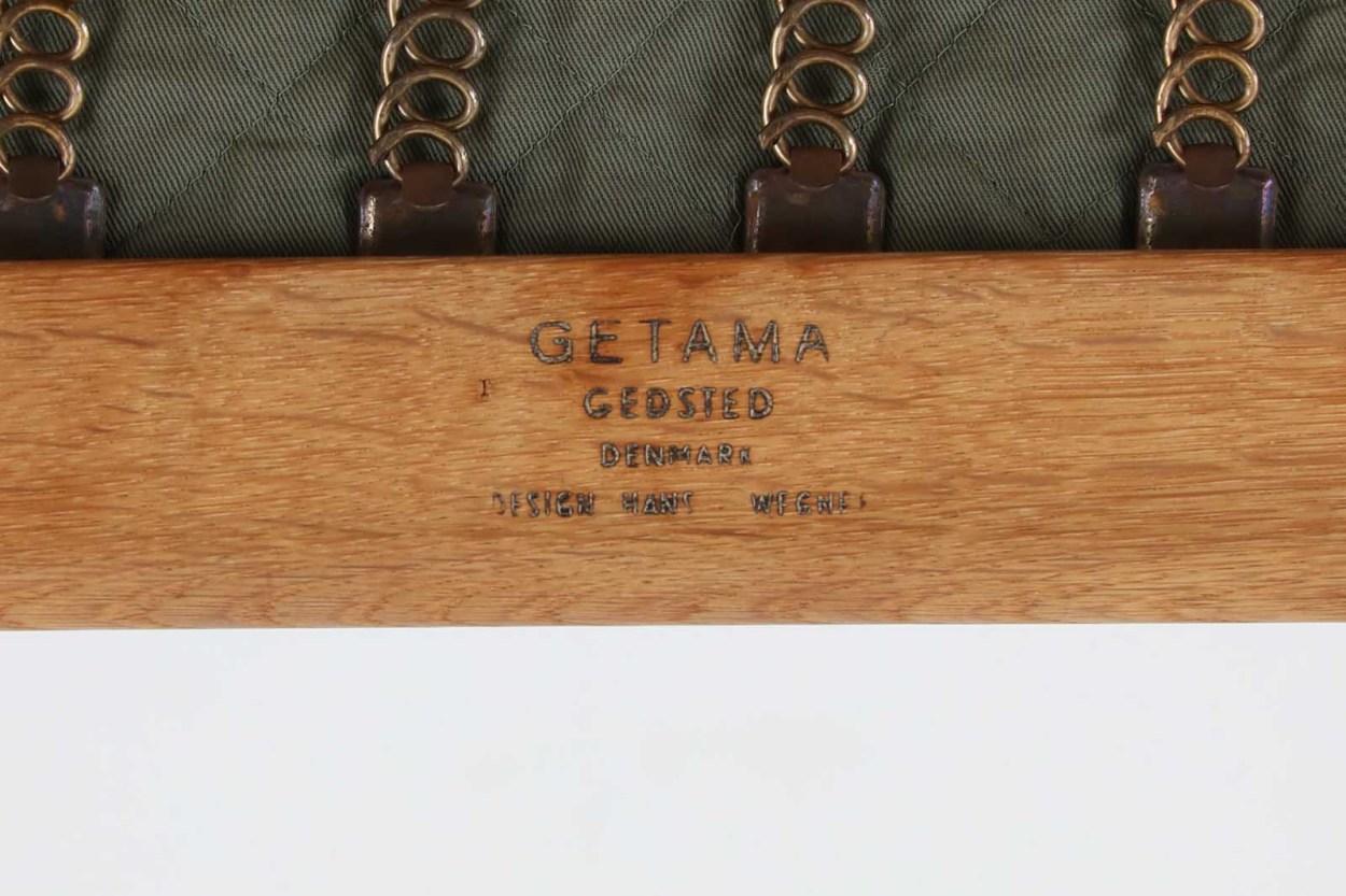 北欧家具ビンテージ GE290 シングルソファ オーク材 Hans J.Wegner(ハンス・J・ウェグナー) GETAMA/ゲタマ/DK11635