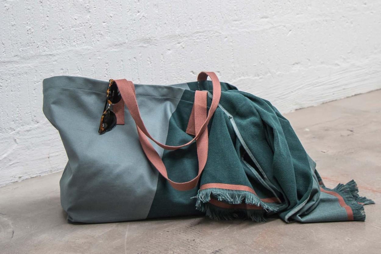 Mette Ditmer ショッピングバッグ/買い物バッグ SHADES パイングリーン