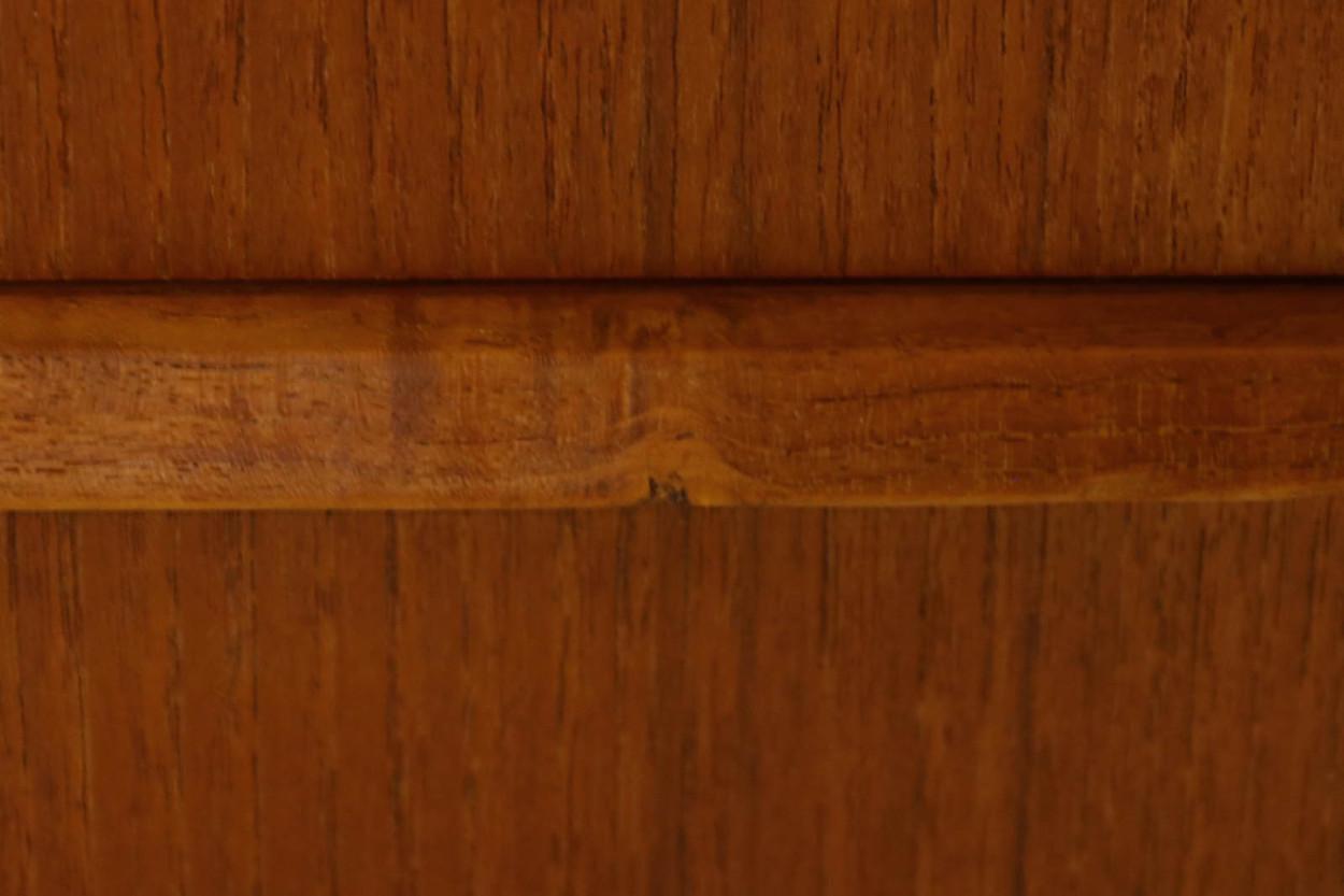 デンマーク製 両袖デスク/机 扉付き チーク材 北欧家具ビンテージ/DK10963