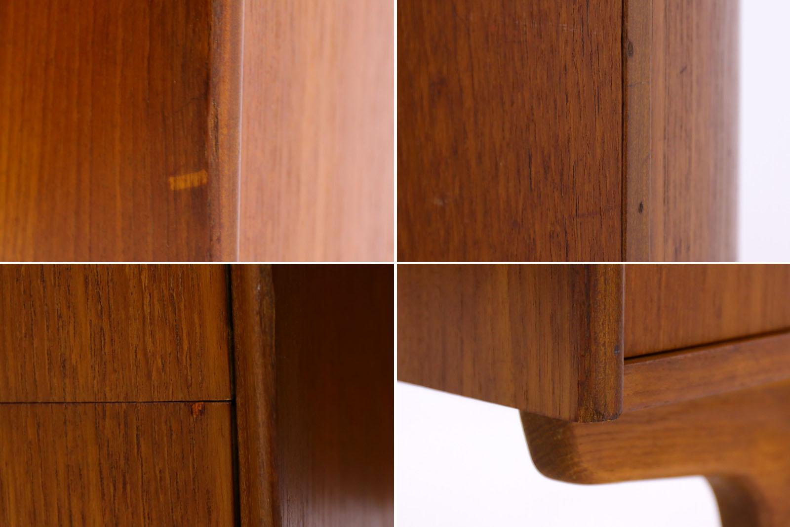 デンマーク製 お洒落な形のキドニーデスク 北欧家具ビンテージ/DK9021