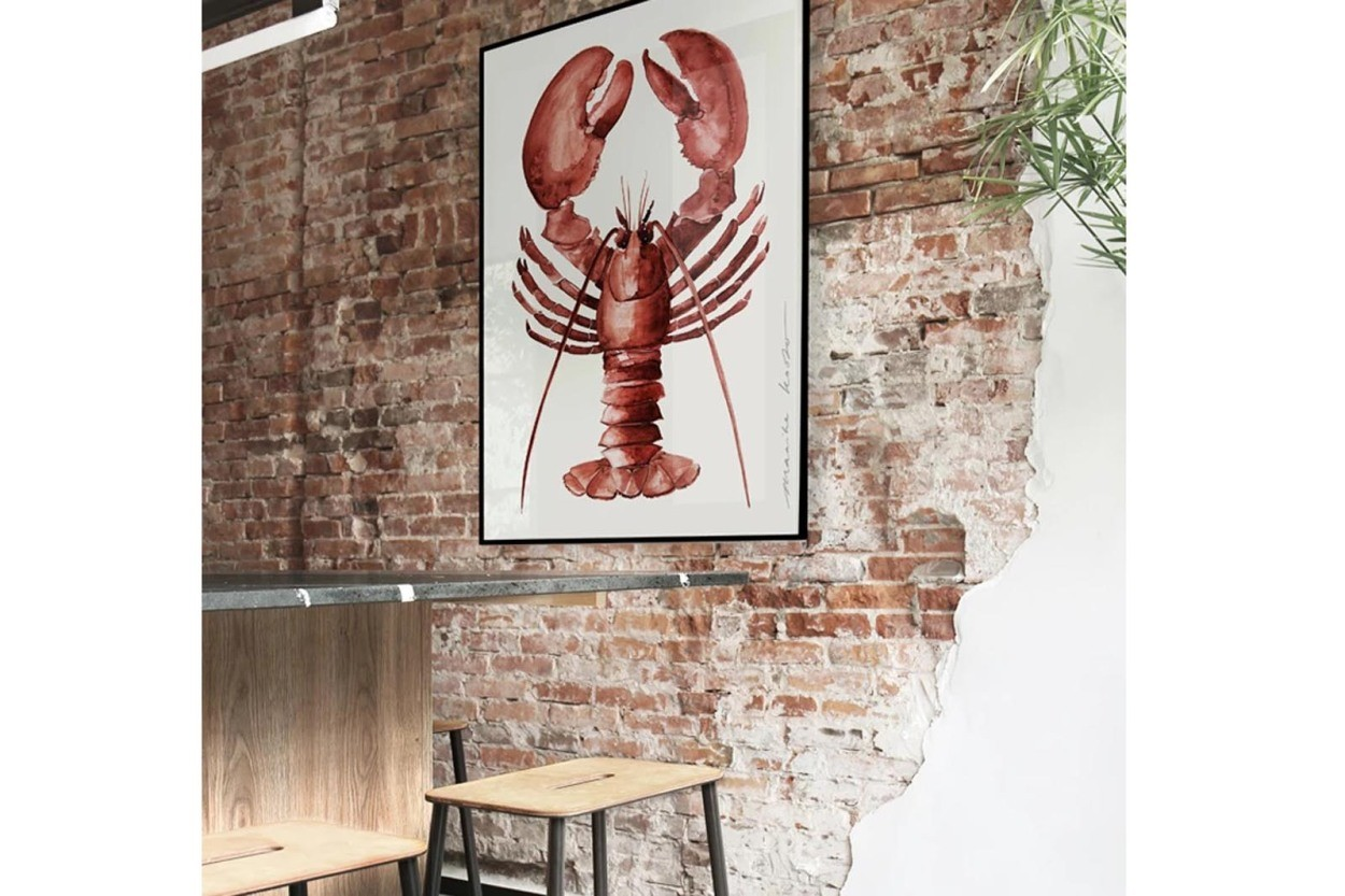 MY DEER ART SHOP ポスター/アートプリント 30×40cm Lobster (Limited edition #250)