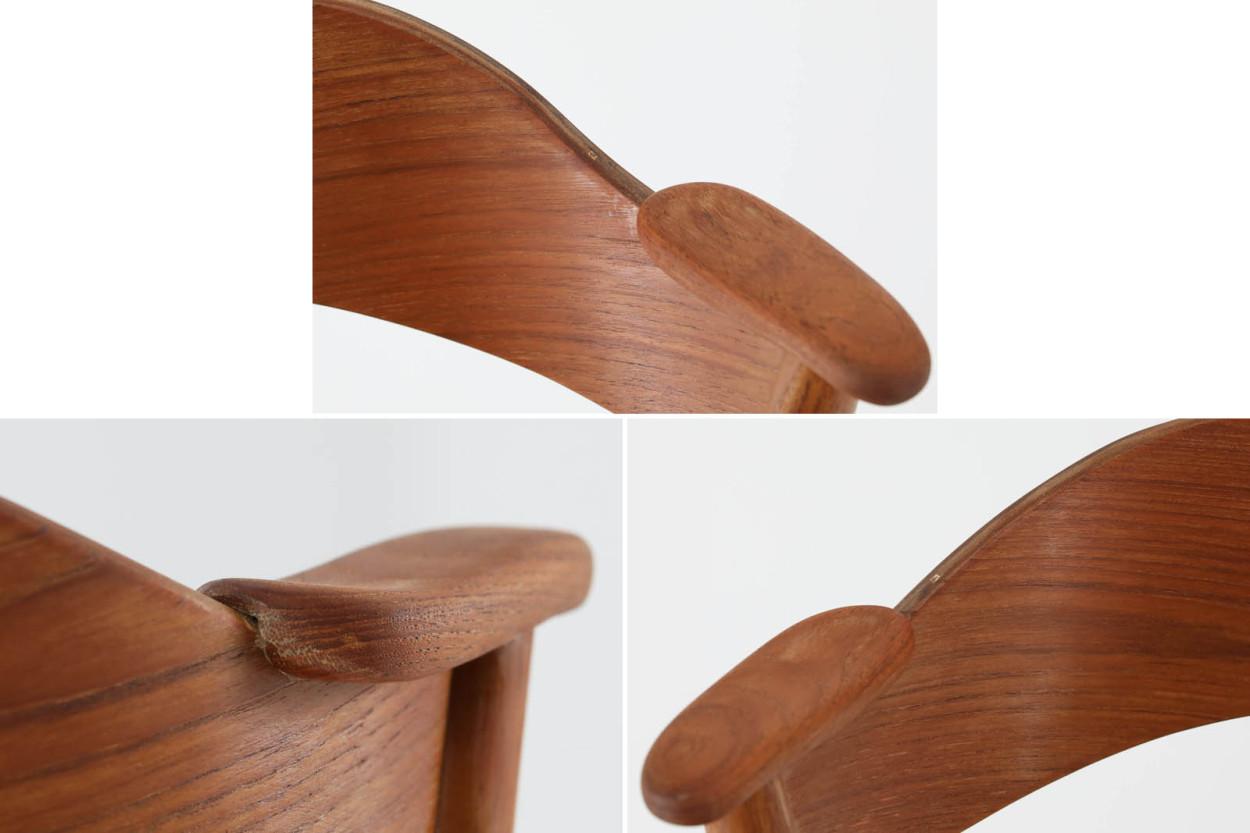 デンマーク製 Kai Kristiansen(カイ・クリスチャンセン) ネイルチェア チーク材 北欧家具ビンテージ/DK11062