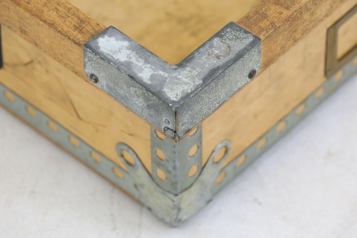 スウェーデン製 木製収納ボックス 北欧家具ビンテージ/DK9051
