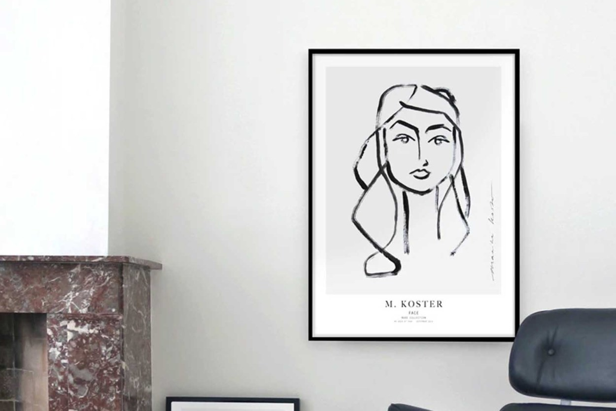 MY DEER ART SHOP ポスター/アートプリント 50×70cm Face (Limited edition #250)