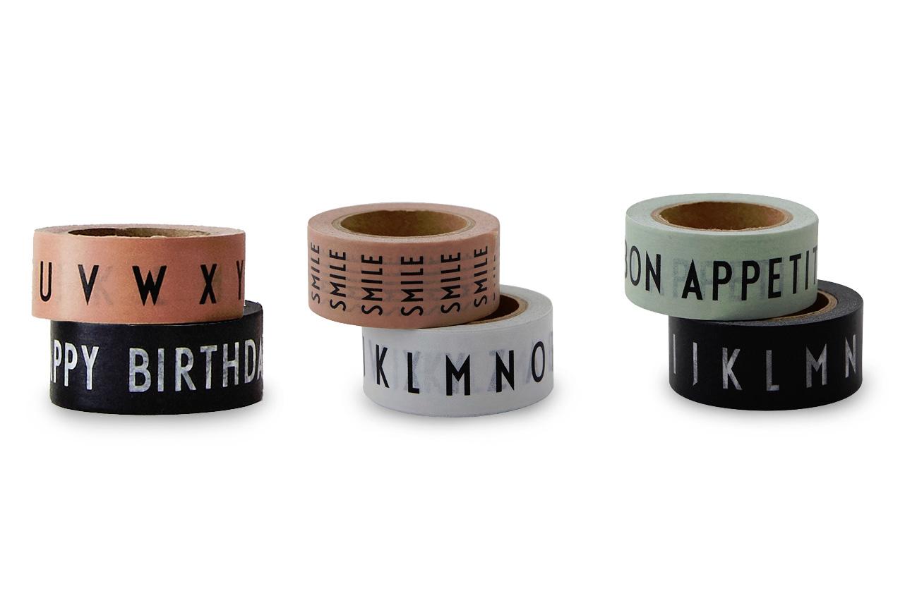 DESIGN LETTERS(デザインレターズ) Arne Jacobsen アルネ ヤコブセン タイポグラフィマスキングテープ 2個セット