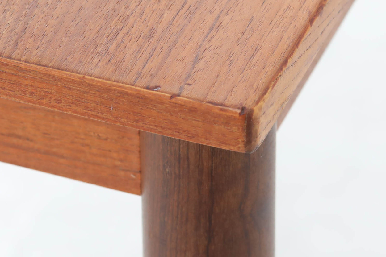 デンマーク製 小ぶりな片袖デスク チーク材 北欧家具ビンテージ/DK11775