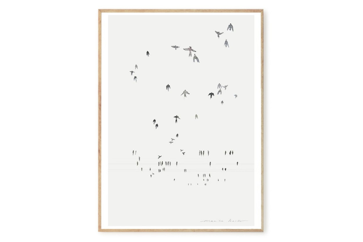 MY DEER ART SHOP ポスター/アートプリント 50×70cm Swallows (Limited edition #250)