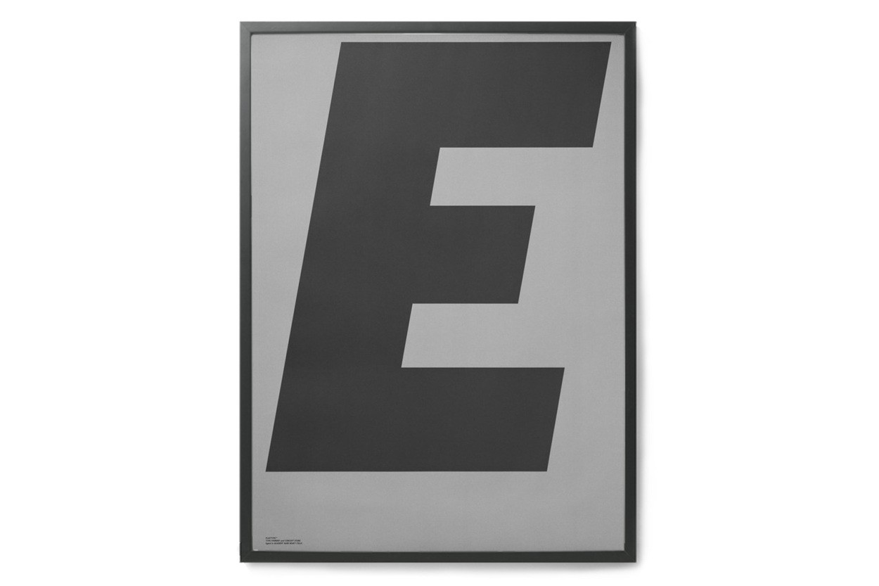 PLAYTYPE アルファベット ポスター/アートプリント 50×70cm GREY - E