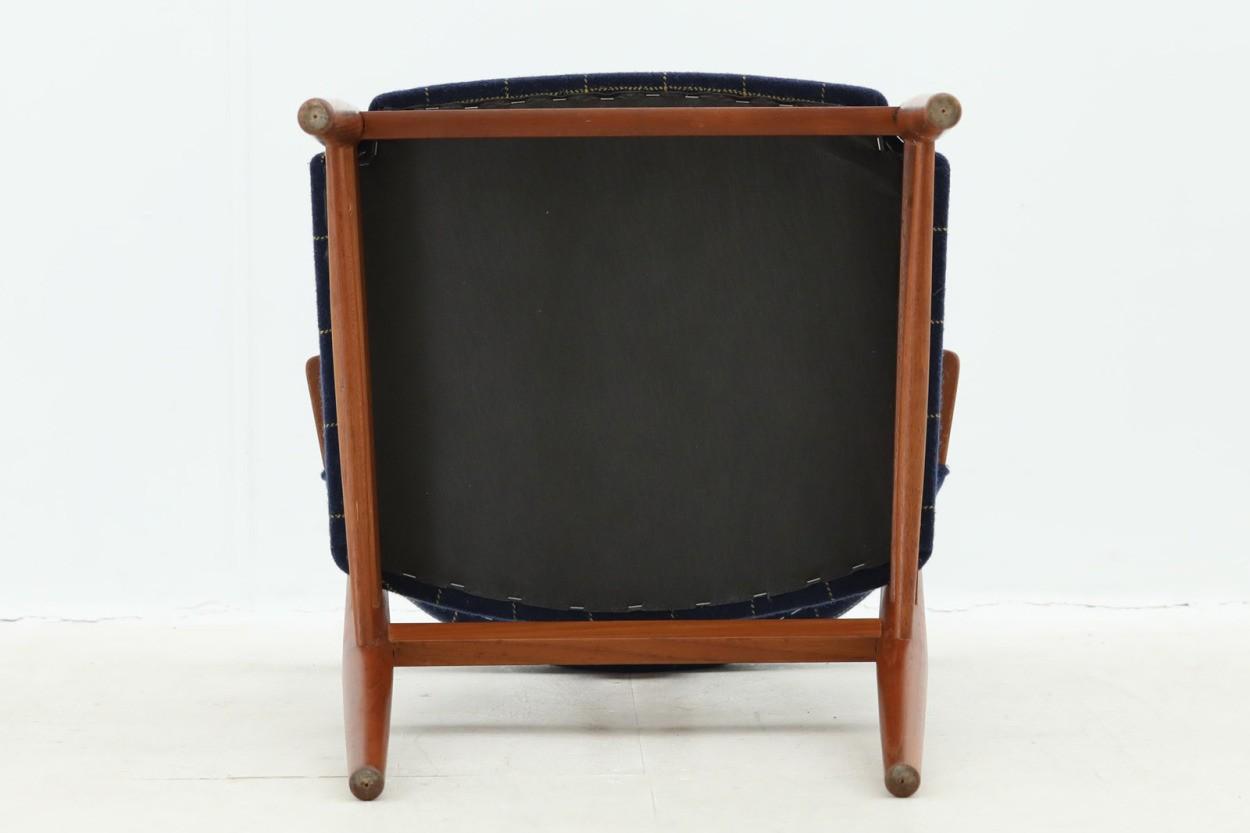 デンマーク製 チーク材のおしゃれなハーフアームチェア 北欧家具ビンテージ/DK8561