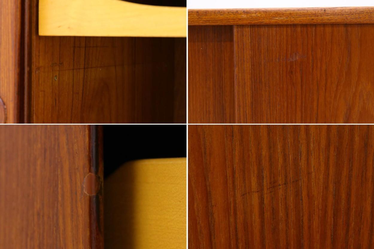 Kai Kristiansen(カイ・クリスチャンセン) 小ぶりなローボード チーク材 北欧家具ビンテージ/DK10614