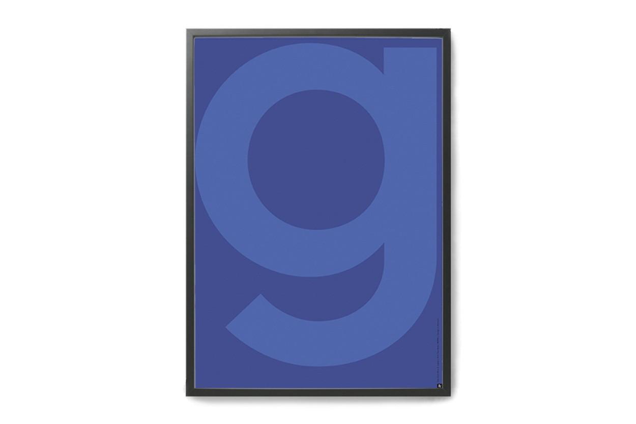 PLAYTYPE アルファベット ポスター/アートプリント A3 GREY - Yve Klein Blue G