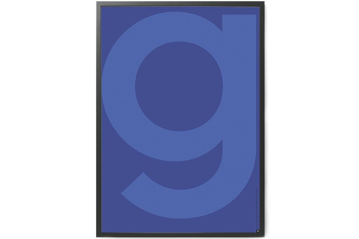 PLAYTYPE アルファベット ポスター/アートプリント 70×100cm GREY - Yve Klein Blue G