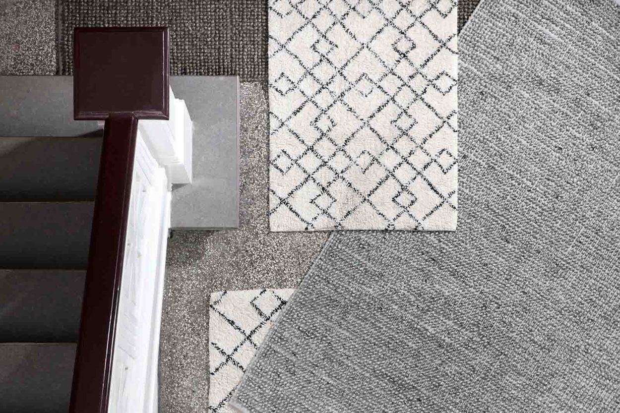 Broste Copenhagen ナチュラルなコットン製 長方形ラグ JANSON アイボリー 200×140cm