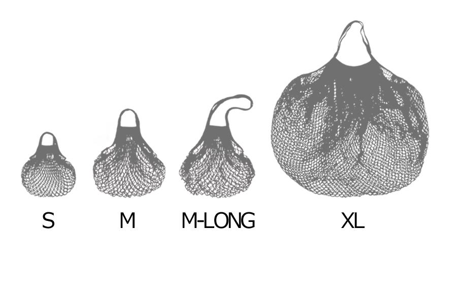 FILT(フィルト) フランス製ネットバッグ Mサイズロング モノクロ