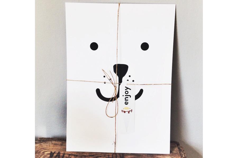 TELLKIDDO ポスター/アートプリント A3 Animal face: Bear