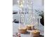SIRIUS(シリウス) ガラスドームのデコレーションキャンドル LEDライト Bella 3点セット
