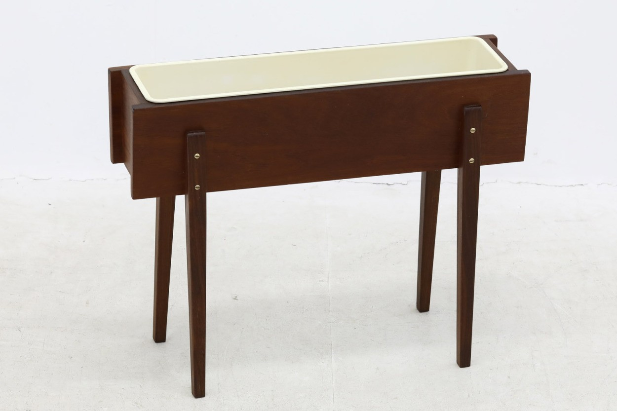 デンマーク製 チーク材 プランター 北欧家具ビンテージ/DK10583