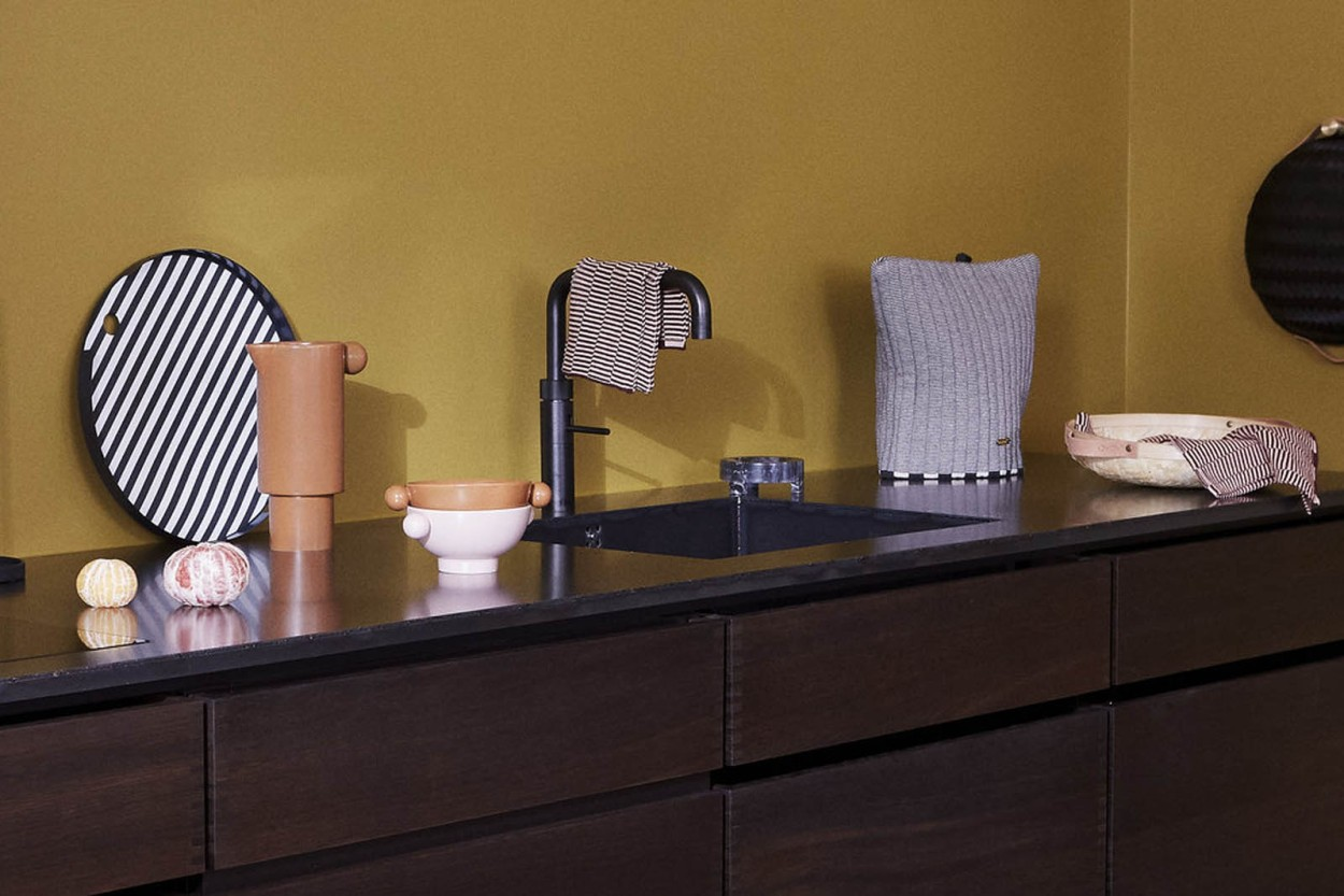OYOY Living Design オーガニックコットン製 ニット編みのディッシュクロス Stringa 2枚セット