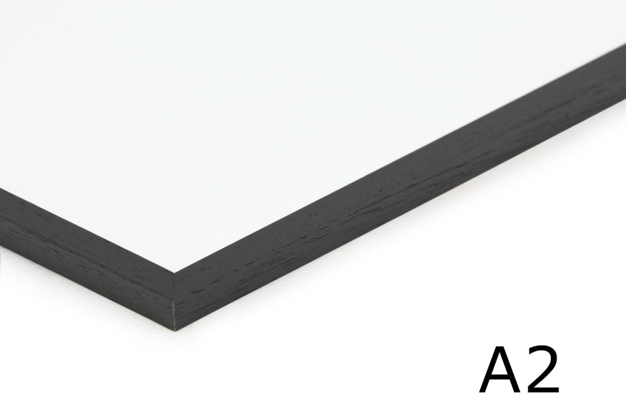 CHLOROS 天然木製のポスターフレーム/額縁 ブラック A2