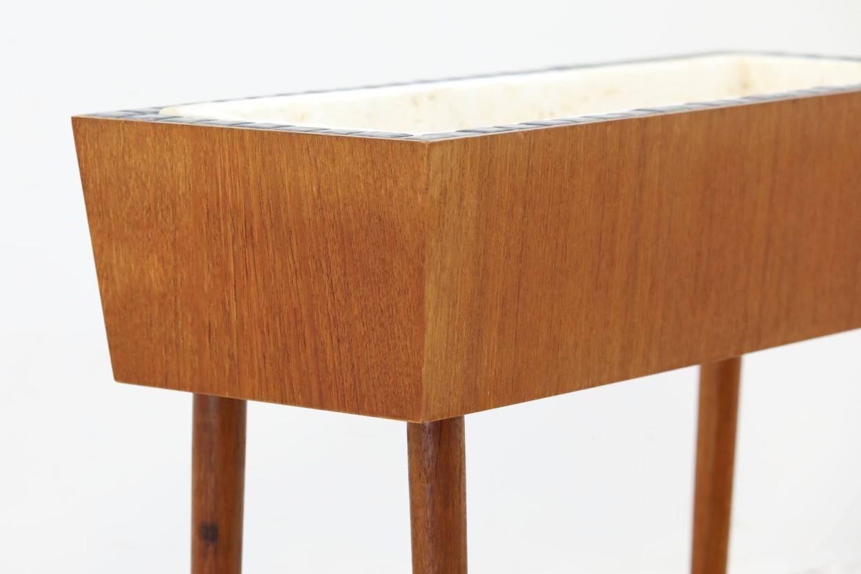 デンマーク製 チーク材 タイルトッププランター 北欧家具ビンテージ/DK10621