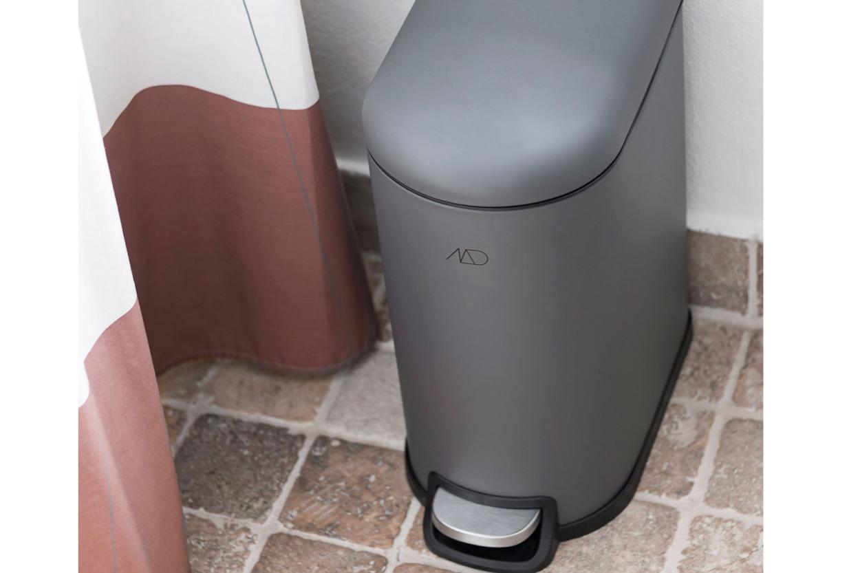 Mette Ditmer 北欧デンマークデザイン ペダルビン/ゴミ箱 10L WALTHER グレー