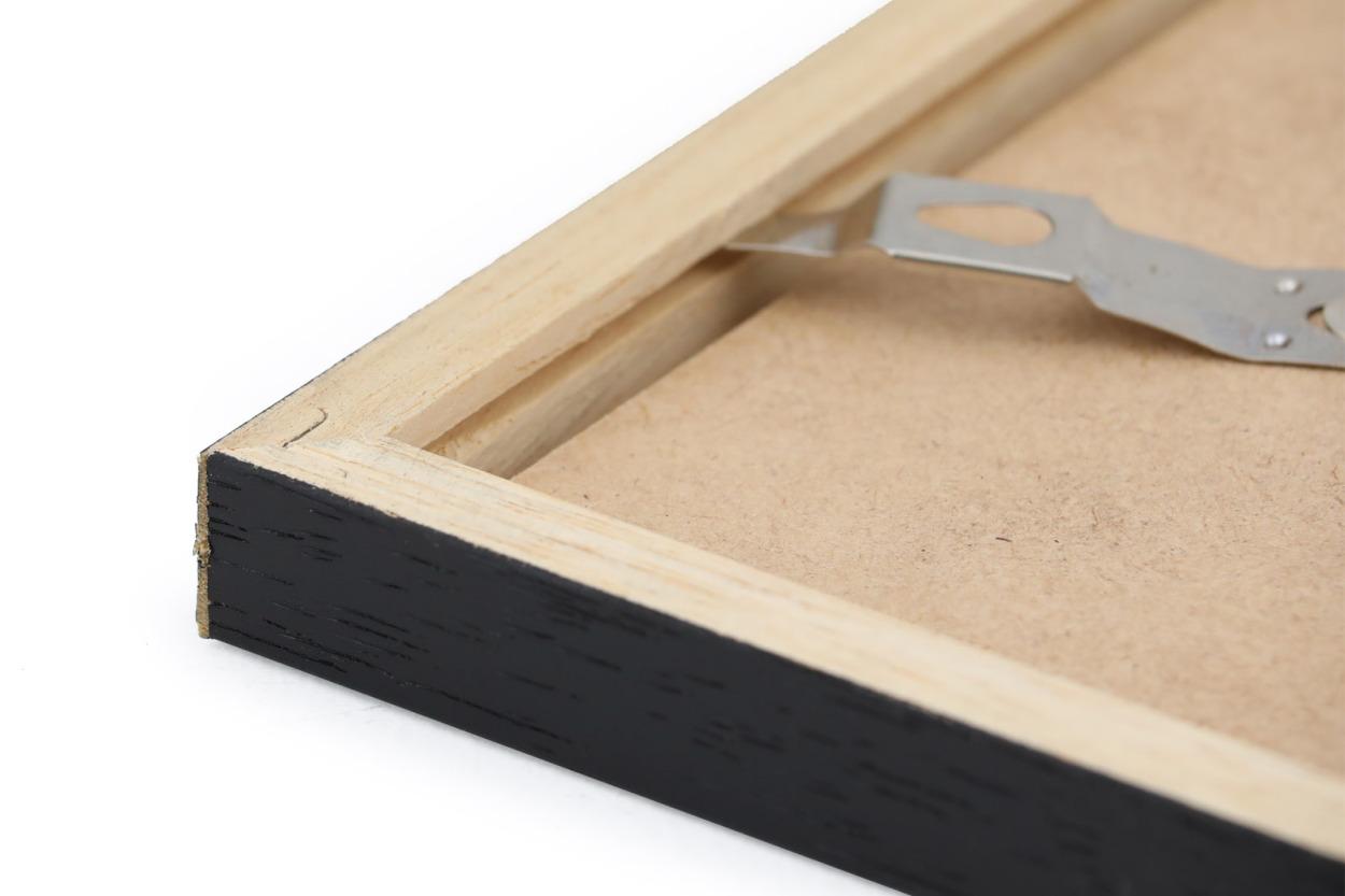 CHLOROS 天然木製のポスターフレーム/フォトフレーム/写真立て ブラック A5