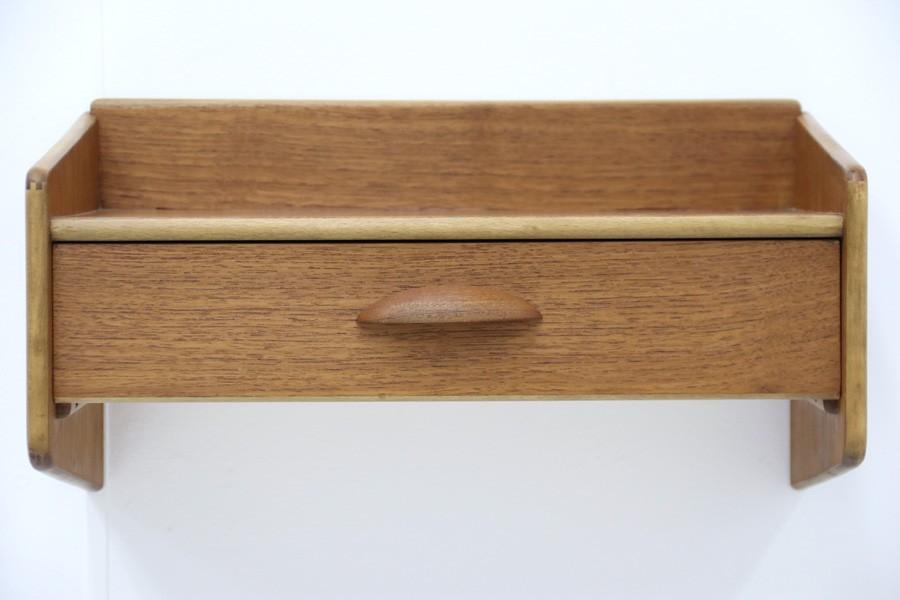 デンマーク製 壁掛けシェルフ 北欧家具ビンテージ/DK7745