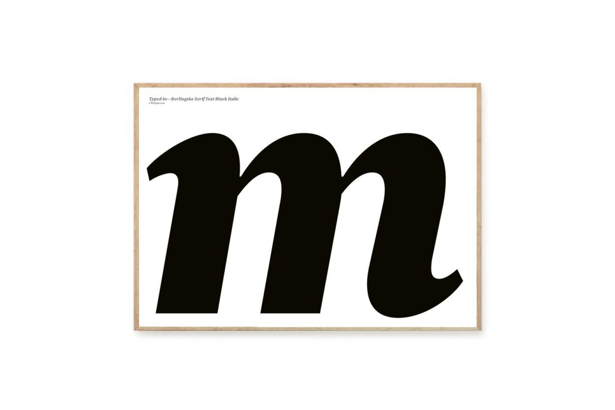 PLAYTYPE アルファベット ポスター/アートプリント A3 Berlingske - m