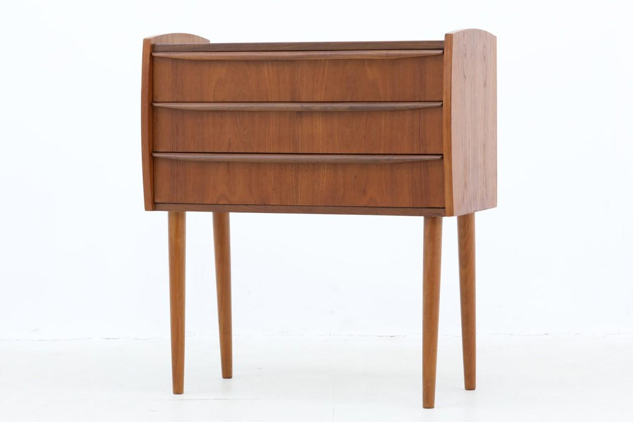 デンマーク製 チェスト3段 チーク材 北欧家具ビンテージ/DK11023