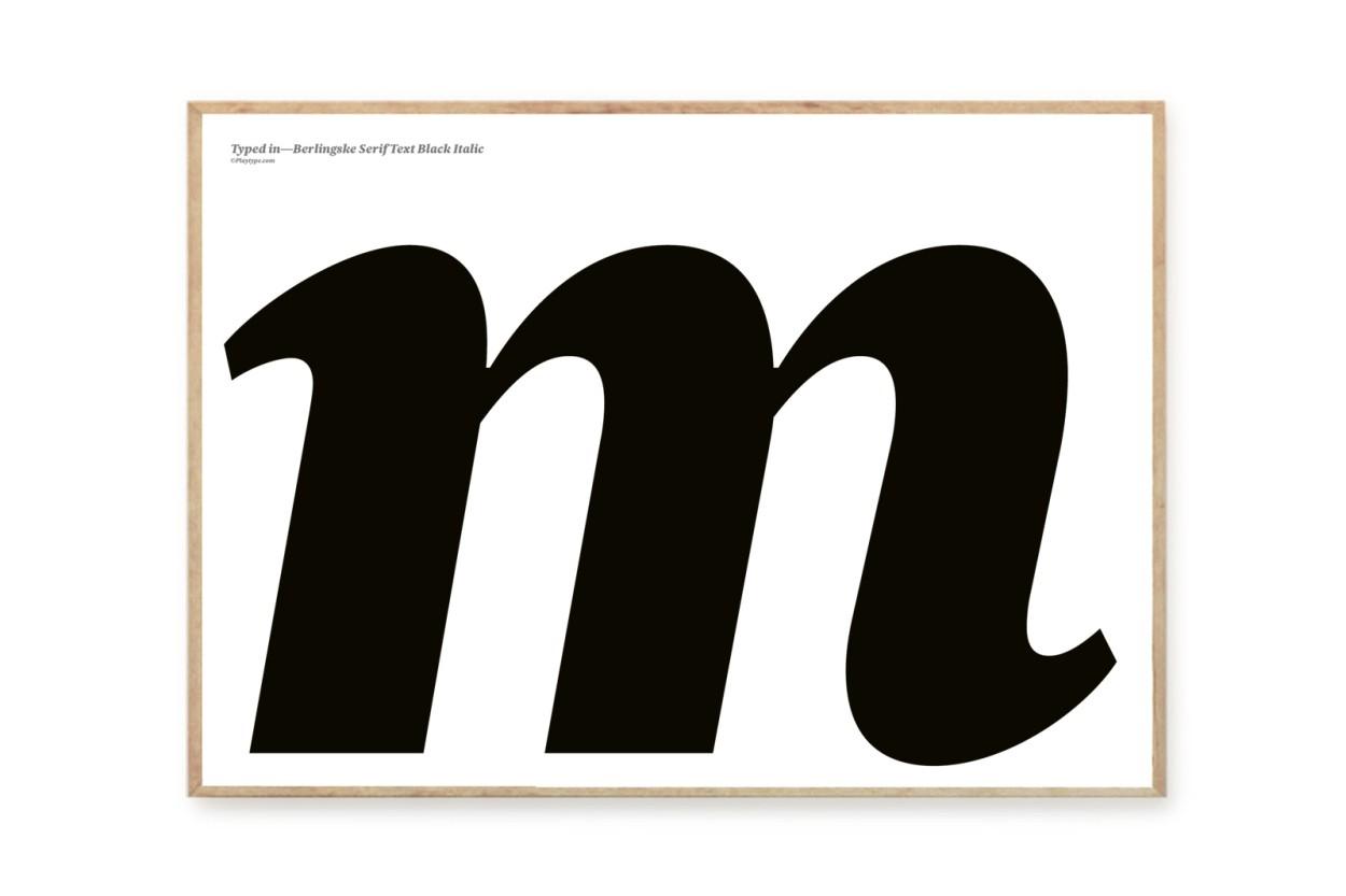 PLAYTYPE アルファベット ポスター/アートプリント 50×70cm Berlingske - m