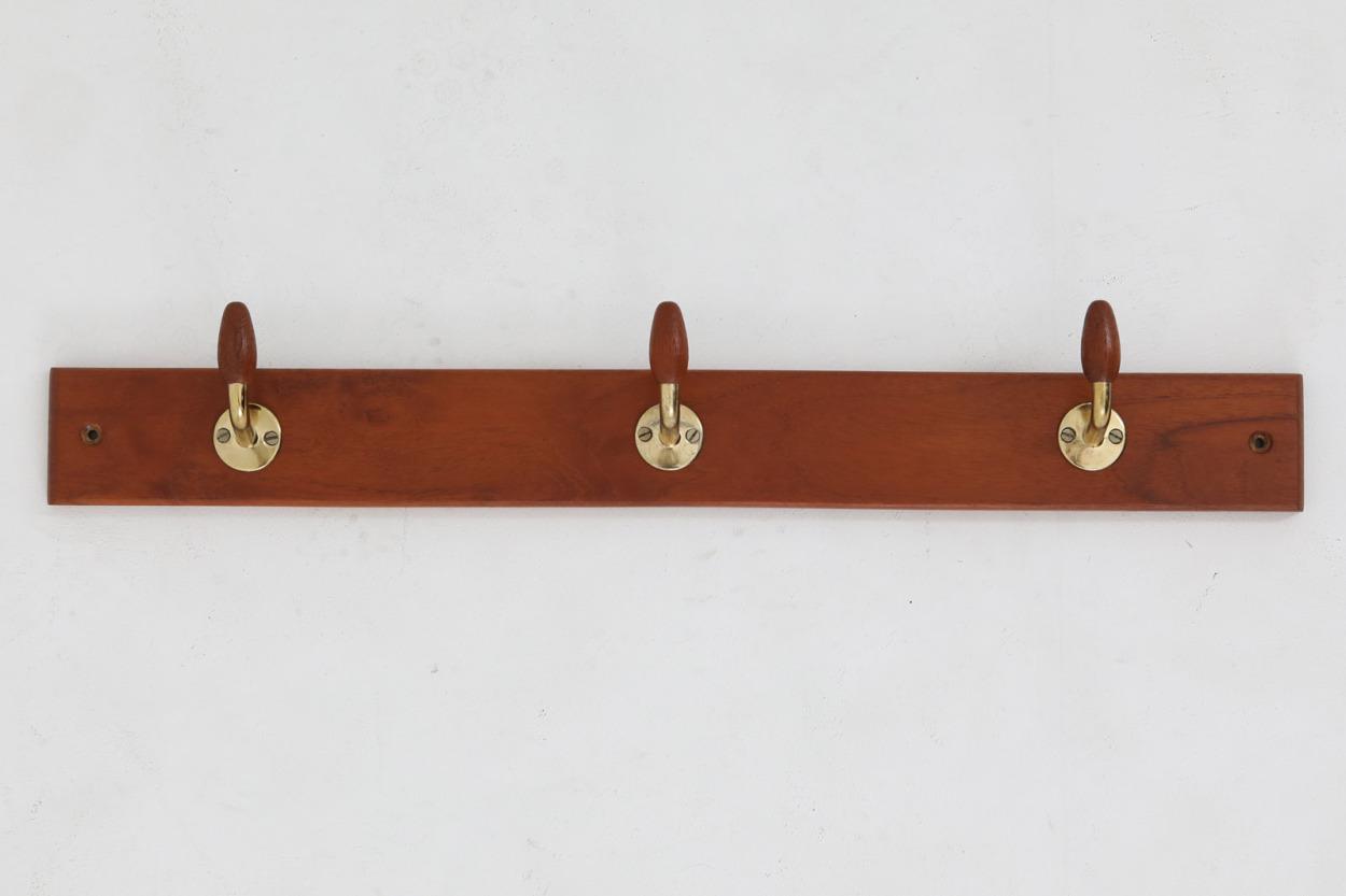 デンマーク製 木製/チーク材 壁掛けハンガーラック 北欧家具ビンテージ/DK11665