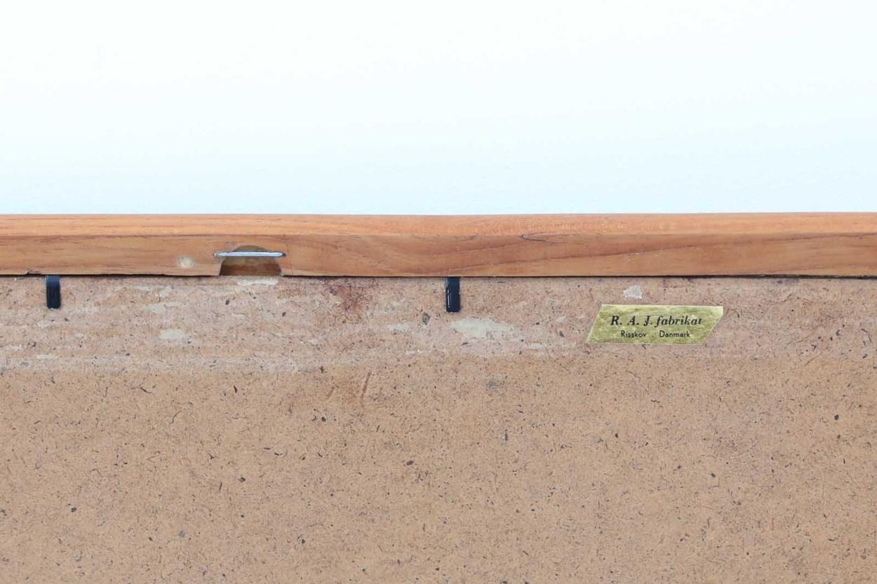 デンマーク製 チーク材ミラー 壁掛け/立て掛け 高さ44cm 北欧ビンテージ家具/DK11747