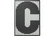 PLAYTYPE アルファベット ポスター/アートプリント 70×100cm ABCD-C