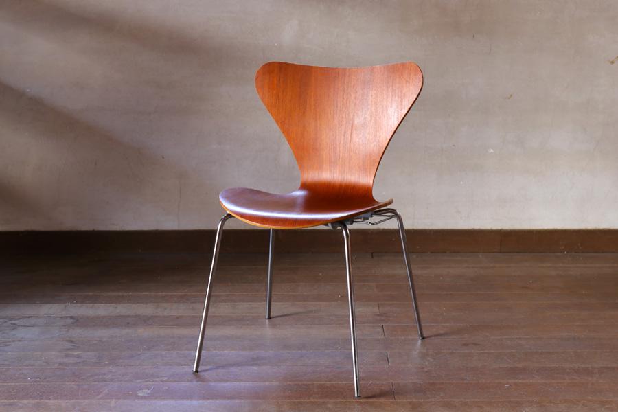 北欧家具ビンテージ Fritz Hansen(フリッツ・ハンセン) セブンチェア チーク材 Arne Jacobsen(アルネ・ヤコブセン) デンマーク製/DK9035