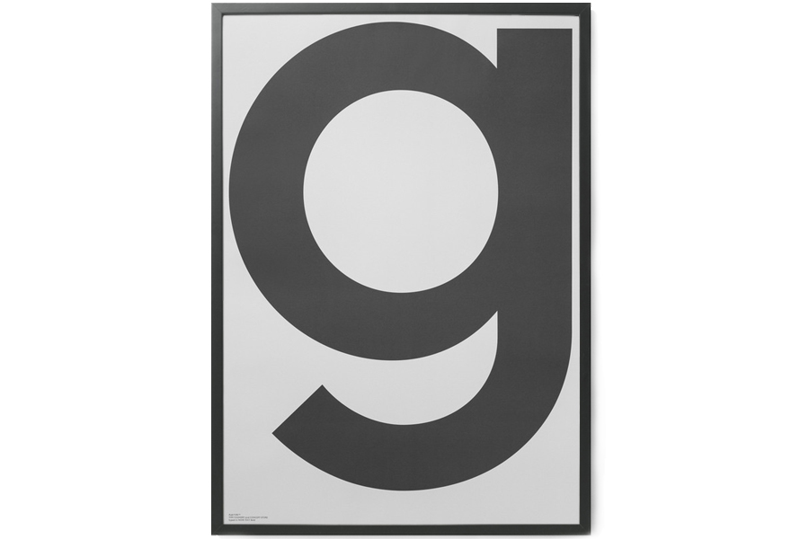 PLAYTYPE アルファベット ポスター/アートプリント 70×100cm GREY - G