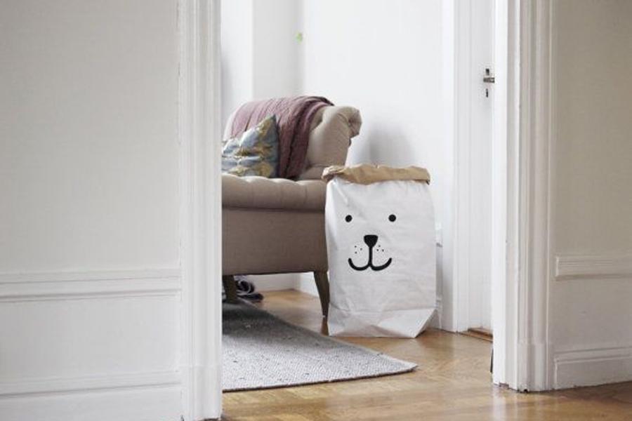 TELLKIDDO ペーパーバッグ Bear Face