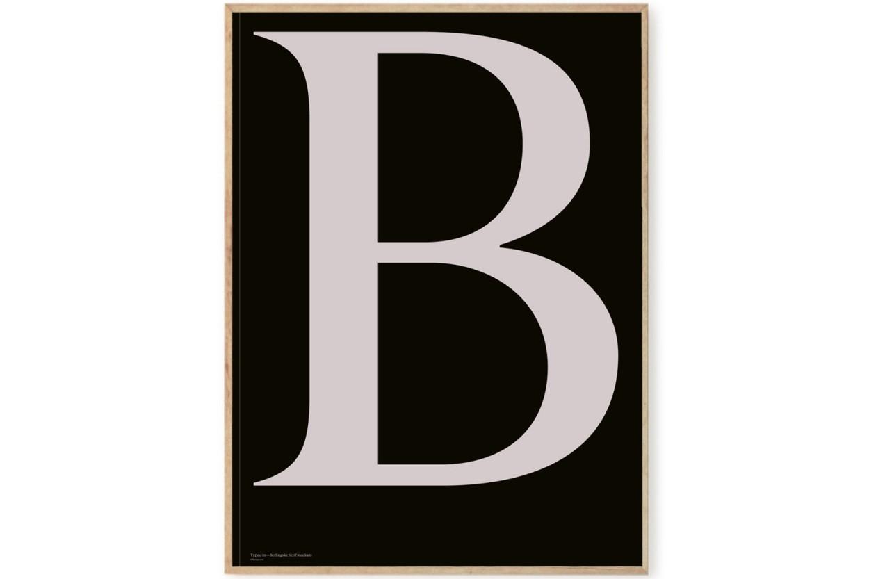 PLAYTYPE アルファベット ポスター/アートプリント 70×100cm Berlingske - B