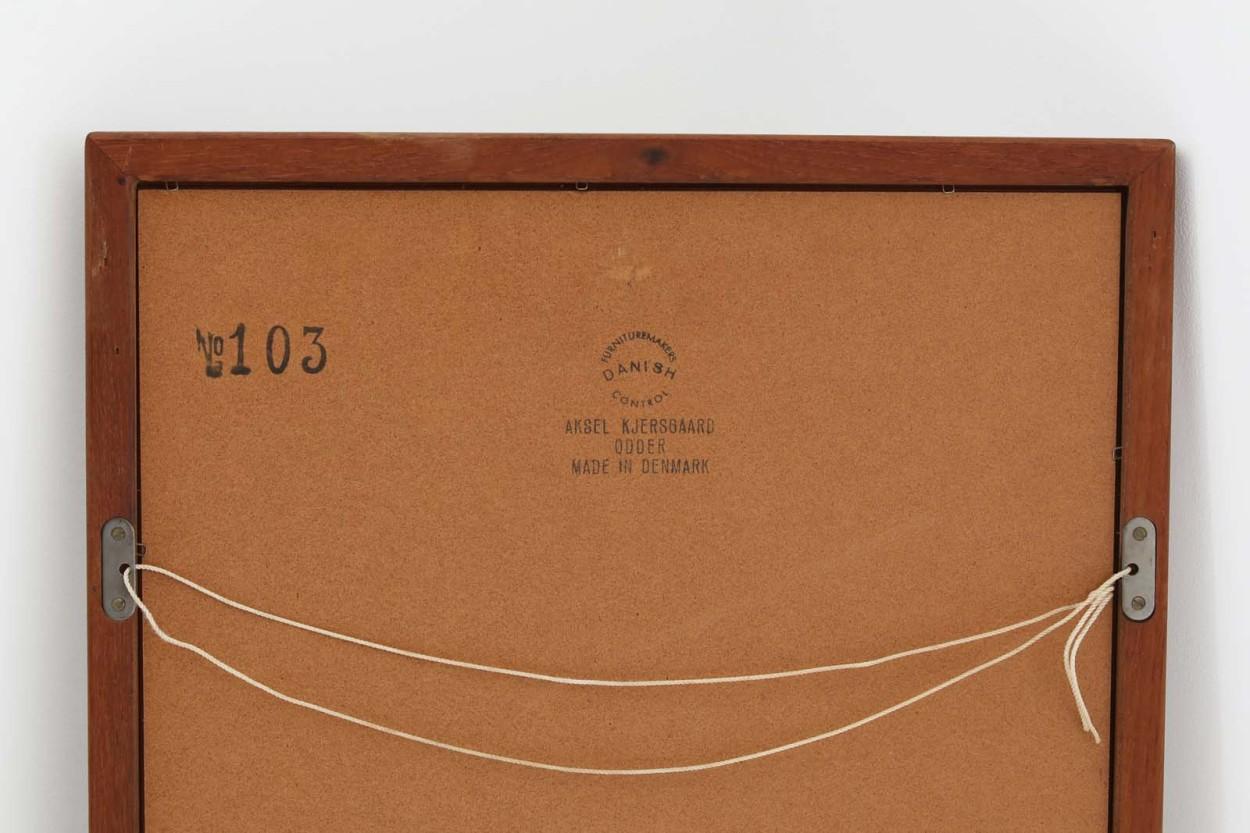 Aksel Kjersgaard(アクセル・キアスゴー) チーク材ミラー 壁掛け/立て掛け 高さ79cm デンマーク製 北欧ビンテージ家具/DK11748
