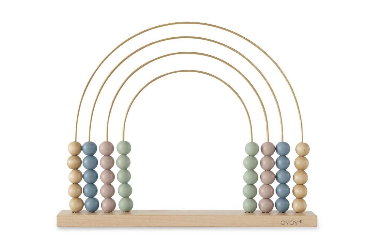 OYOY Living Design キッズ用 オブジェにもなる虹アーチ形のそろばんおもちゃ