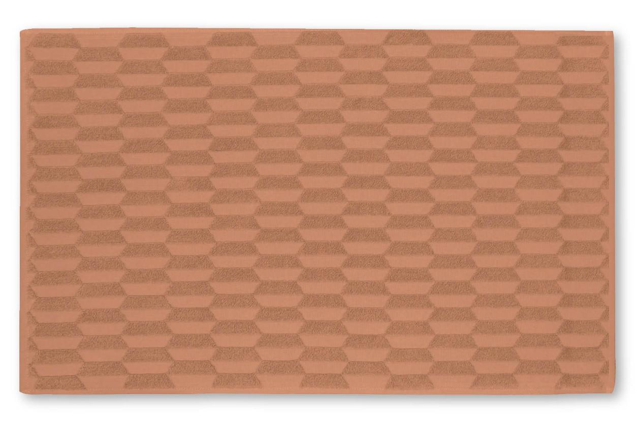 Mette Ditmer コットン製 ジオメトリックパターンの柔らかいバスマット 50×80cm ラスティー