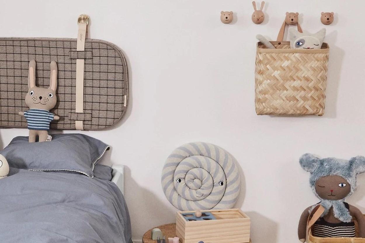 OYOY Living Design キッズ用 アニマルデザインのウォールフック Bear