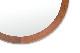 チーク無垢材の美しい真円の壁掛けウォールミラー