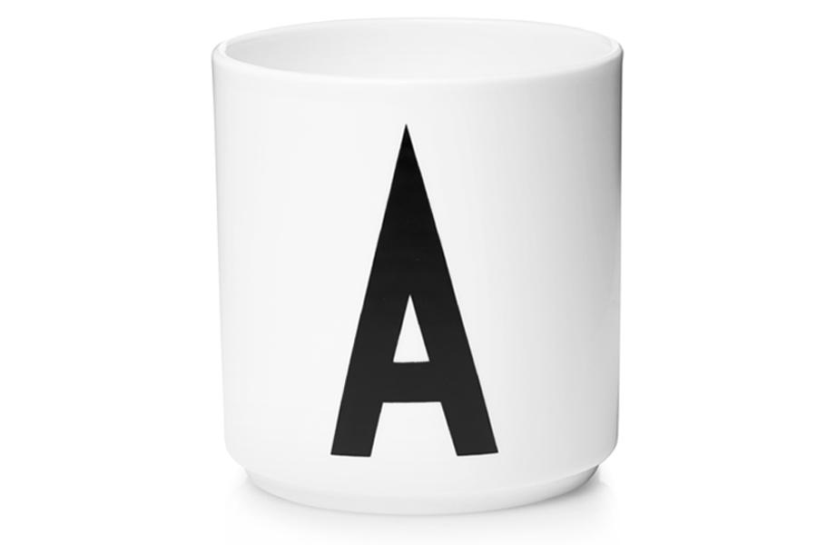 DESIGN LETTERS(デザインレターズ) Arne Jacobsen アルネ ヤコブセン パーソナルポーセリンカップ(A〜M) ホワイト