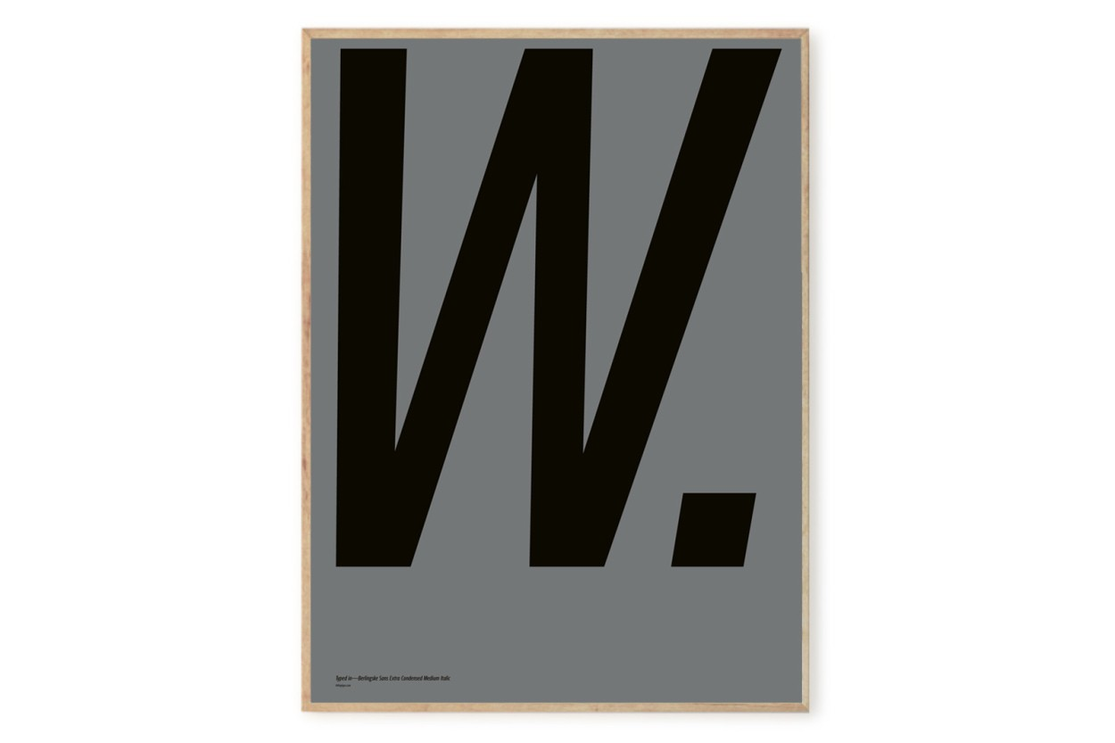 PLAYTYPE アルファベット ポスター/アートプリント 50×70cm Berlingske - W.
