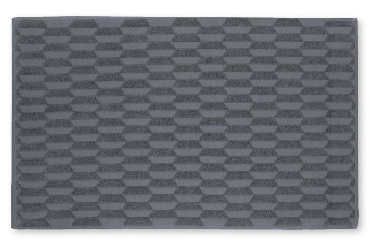 Mette Ditmer コットン製 ジオメトリックパターンの柔らかいバスマット 50×80cm アンスラサイト