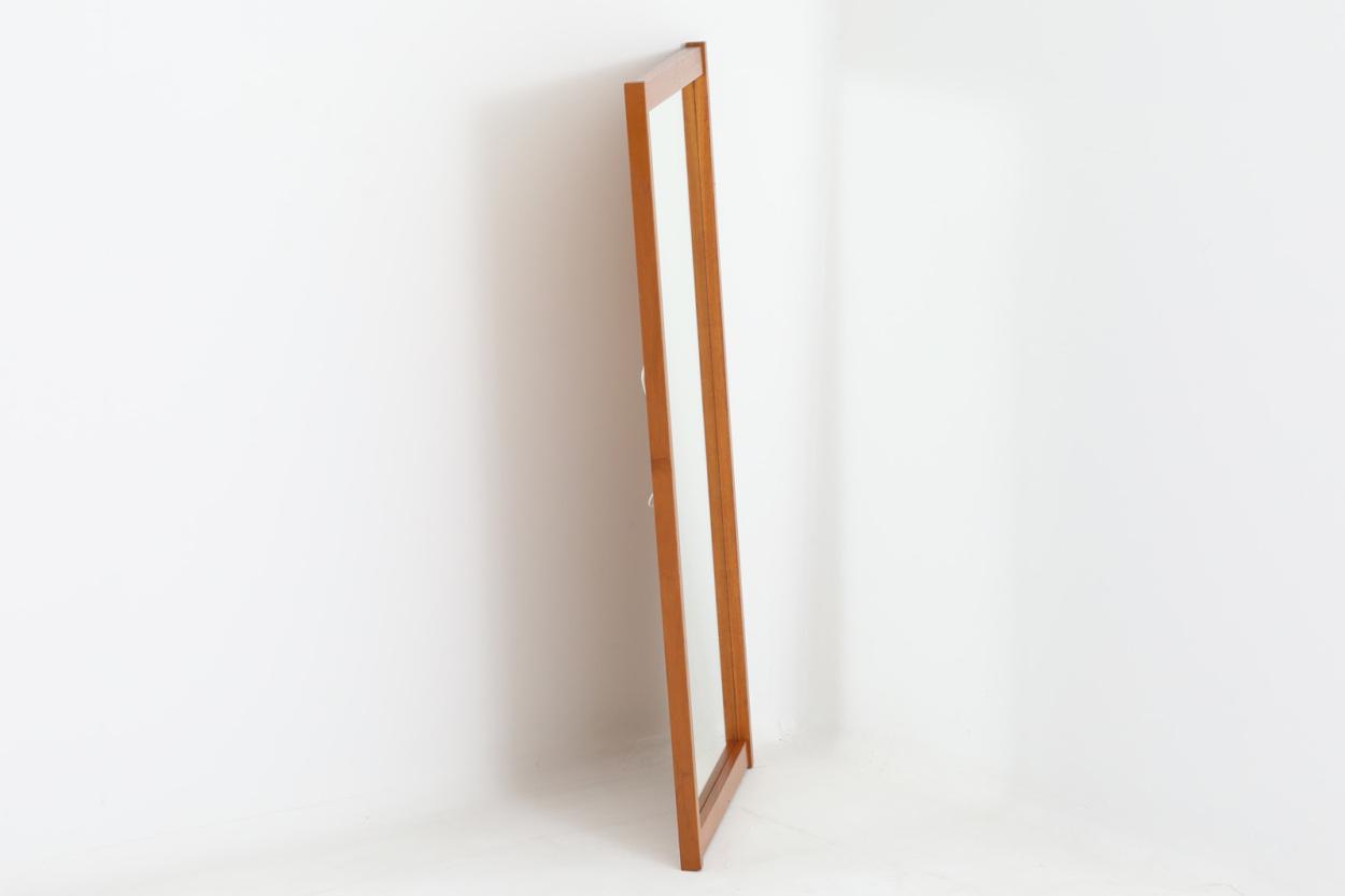 デンマーク製 チーク材ミラー 壁掛け/立掛け 高さ78cm 北欧ビンテージ家具/DK12170