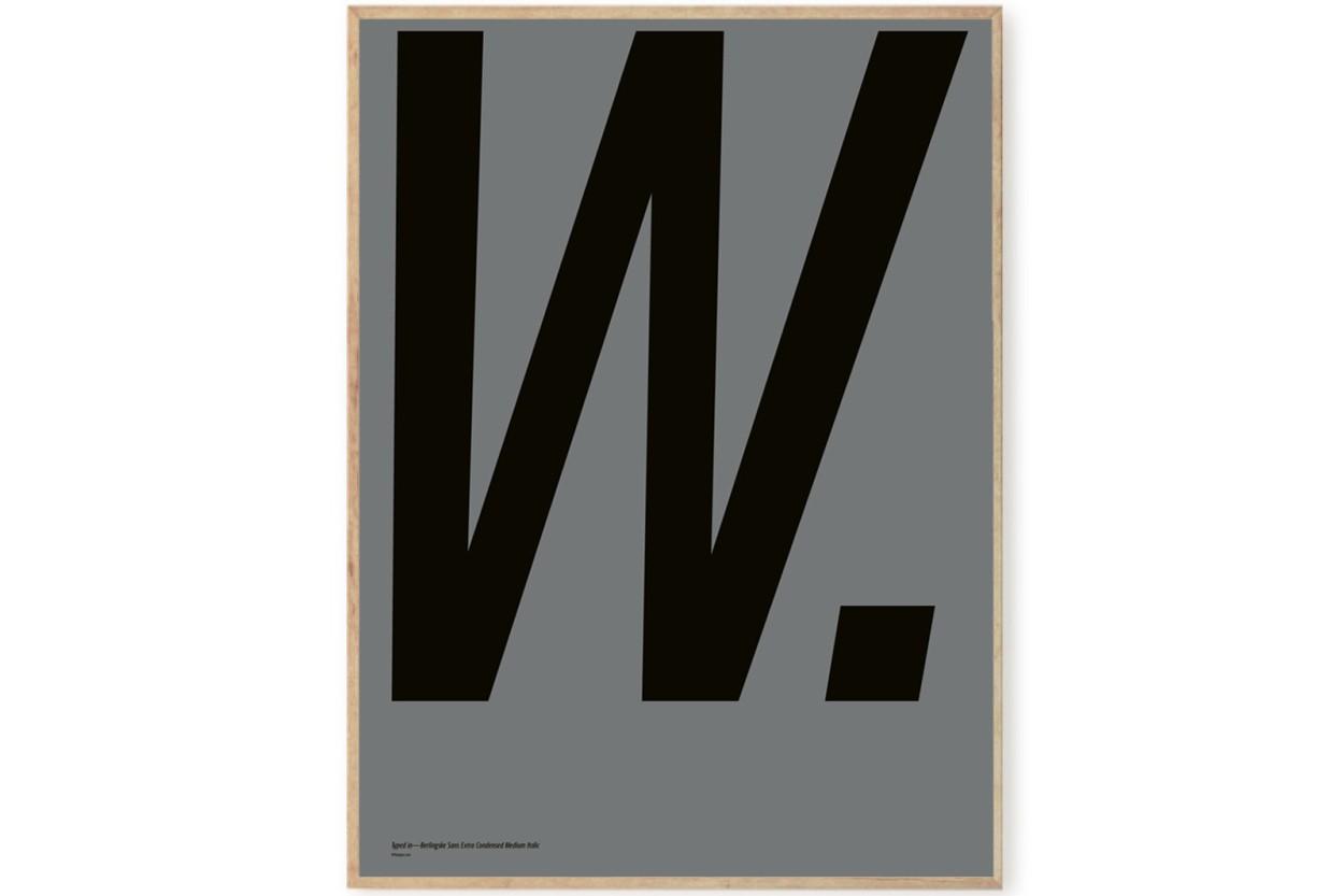 PLAYTYPE アルファベット ポスター/アートプリント 70×100cm Berlingske - W.