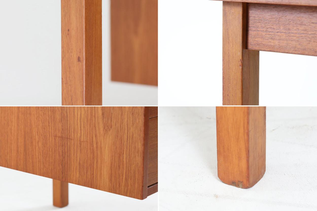 デンマーク製 片袖デスク チーク材 北欧家具ビンテージ/DK11776