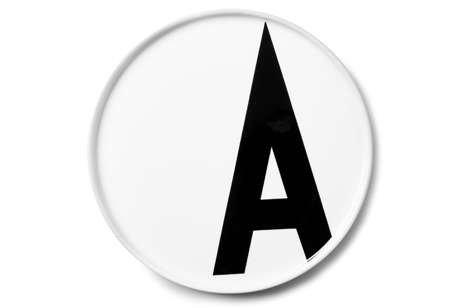 DESIGN LETTERS(デザインレターズ) Arne Jacobsen アルネ ヤコブセン パーソナルポーセリンプレート(A〜M)